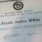 Teacher of Year Salter