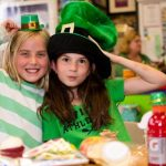 Students celebrating St. Patrick's Day